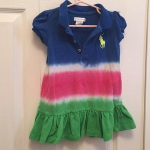 Ralph Lauren Big Pony Polo Dress Tie Dye 18 months